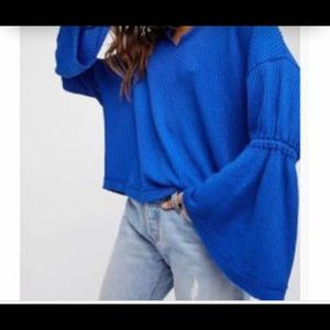 Free People Bell Sleeve Thermal Tunic